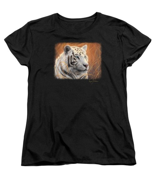 Portrait White Tiger 2 Women's T-Shirt (Standard Cut) by Lucie Bilodeau