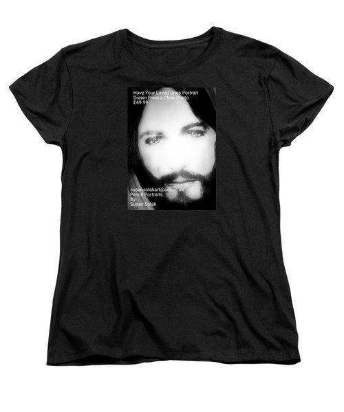 Women's T-Shirt (Standard Cut) featuring the painting Portraits by Susan  Solak