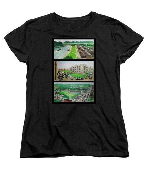 Portsmouth Ohio 1955 Women's T-Shirt (Standard Cut) by Frank Hunter