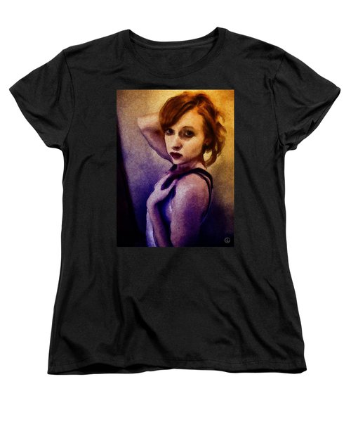 Women's T-Shirt (Standard Cut) featuring the digital art Posing For You by Gun Legler