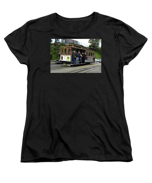 Women's T-Shirt (Standard Cut) featuring the photograph Powell And Market Street Trolley by Steven Spak