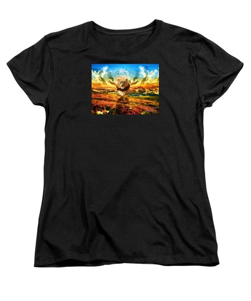 Power And Glory Women's T-Shirt (Standard Cut) by Dolores Develde