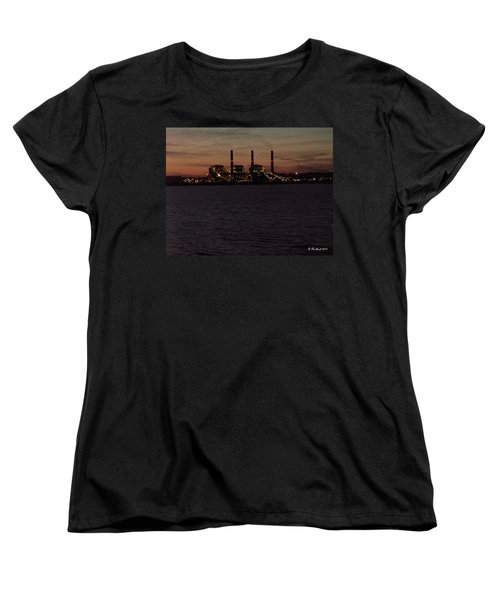 Women's T-Shirt (Standard Cut) featuring the photograph Power In The Dark by Betty Northcutt