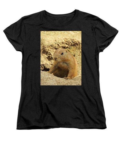 Prairie Dog Peek Women's T-Shirt (Standard Cut) by Robin Regan