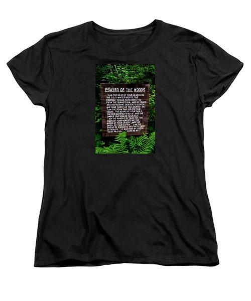 Prayer Of The Woods Women's T-Shirt (Standard Cut) by Michelle Calkins
