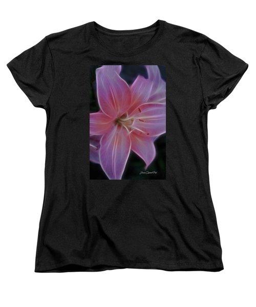 Precious Pink Lily Women's T-Shirt (Standard Cut) by Joann Copeland-Paul