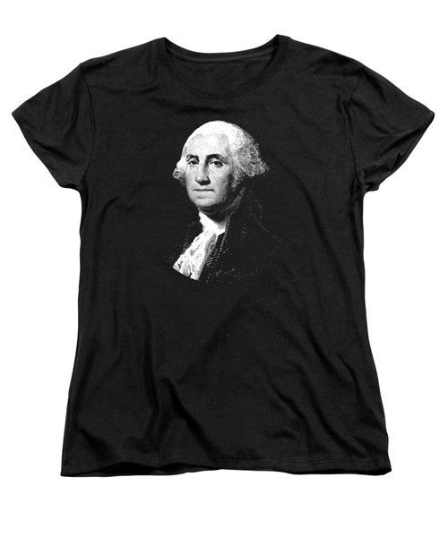 President George Washington Graphic  Women's T-Shirt (Standard Cut) by War Is Hell Store