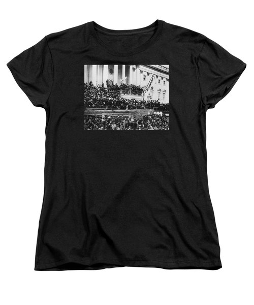 President Lincoln Gives His Second Inaugural Address - March 4 1865 Women's T-Shirt (Standard Cut) by International  Images