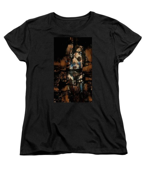 Women's T-Shirt (Standard Cut) featuring the painting Pressure Cracked by Jim Vance
