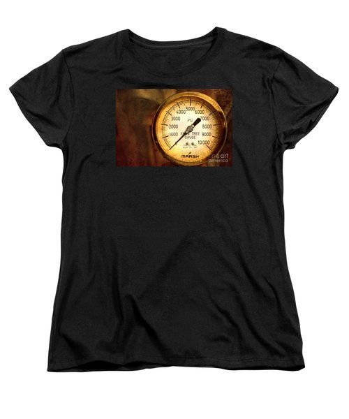 Women's T-Shirt (Standard Cut) featuring the photograph Pressure Gauge by Charuhas Images