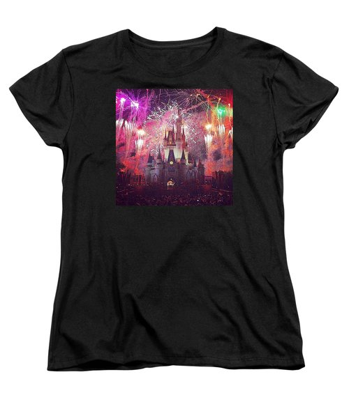 The Happiest Place On Earth  Women's T-Shirt (Standard Cut) by Kate Arsenault