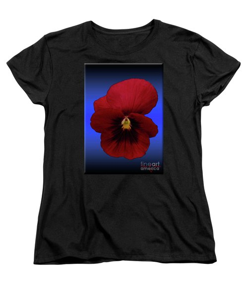 Women's T-Shirt (Standard Cut) featuring the photograph Pretty Pansy by Donna Brown