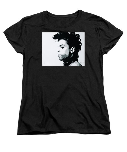 Women's T-Shirt (Standard Cut) featuring the painting Prince by Ashley Price