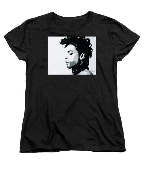 Prince Women's T-Shirt (Standard Cut) by Ashley Price