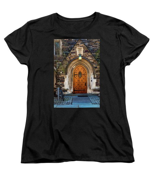 Women's T-Shirt (Standard Cut) featuring the photograph Princeton University Henry Hall by Susan Candelario