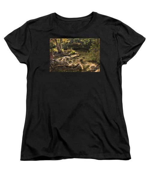 Women's T-Shirt (Standard Cut) featuring the photograph Private Retreat by Tamyra Ayles