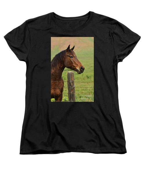 Women's T-Shirt (Standard Cut) featuring the photograph Profile Of A Bay by Debby Pueschel