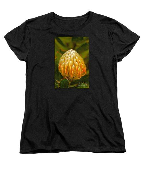 Proteas Ready To Blossom  Women's T-Shirt (Standard Cut) by Michael Cinnamond