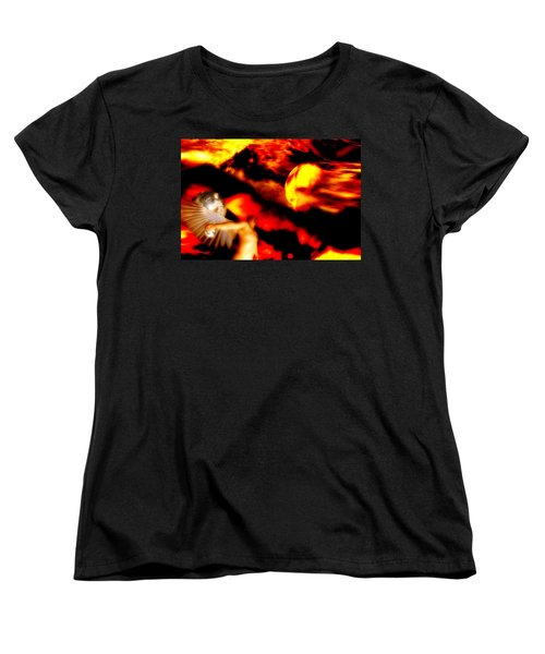 Women's T-Shirt (Standard Cut) featuring the digital art Protection by Isabella F Abbie Shores FRSA