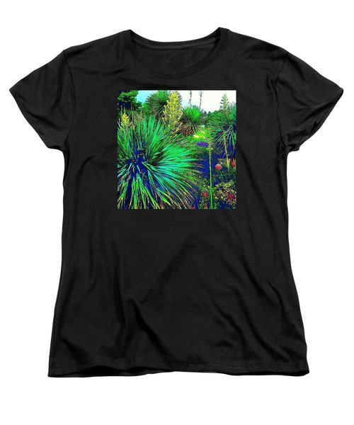 Psychedelic Yuccas. #plant #yucca Women's T-Shirt (Standard Cut) by Austin Tuxedo Cat