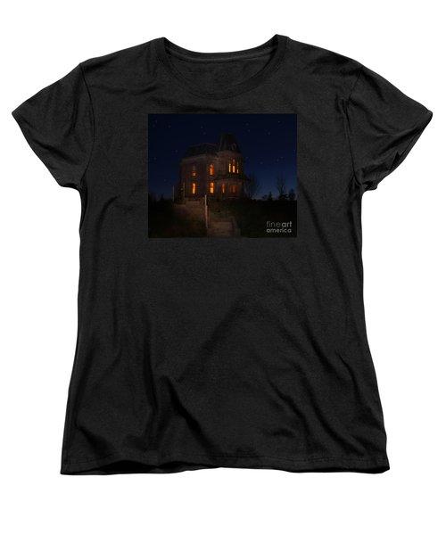 Psycho House-bates Motel Women's T-Shirt (Standard Cut) by Jim  Hatch