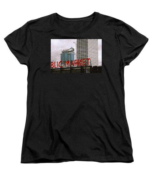 Public Market Women's T-Shirt (Standard Cut) by David Blank