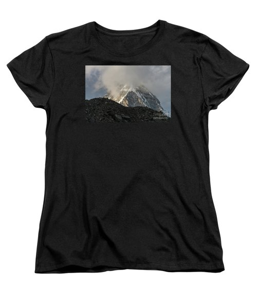 Women's T-Shirt (Standard Cut) featuring the photograph Pumori Dusk Light by Mike Reid