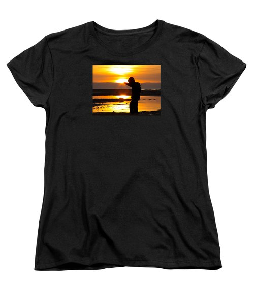 Punching The Sun Women's T-Shirt (Standard Cut) by RKAB Works