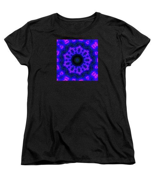 Purple 9 Lightmandala Women's T-Shirt (Standard Cut) by Robert Thalmeier
