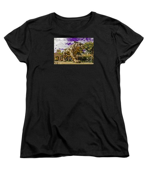 Purple And Gold Women's T-Shirt (Standard Cut) by Scott Pellegrin