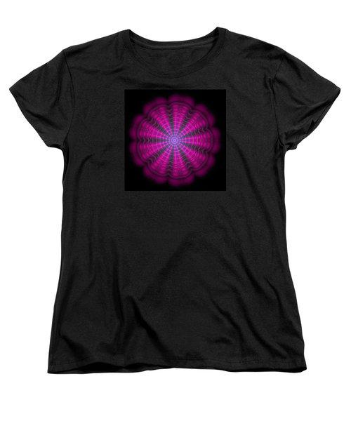 Purple Lightmandala Ripples Women's T-Shirt (Standard Cut) by Robert Thalmeier