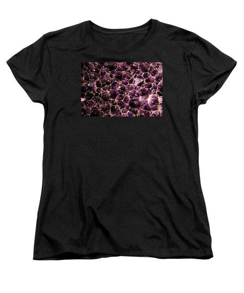 Purple Quartz  Amethyst Women's T-Shirt (Standard Cut) by LeeAnn McLaneGoetz McLaneGoetzStudioLLCcom