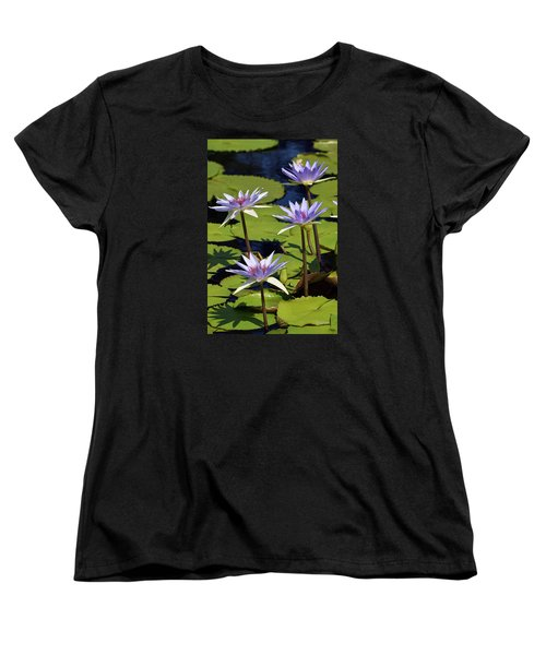 Purple Sparks Women's T-Shirt (Standard Cut) by Deborah  Crew-Johnson