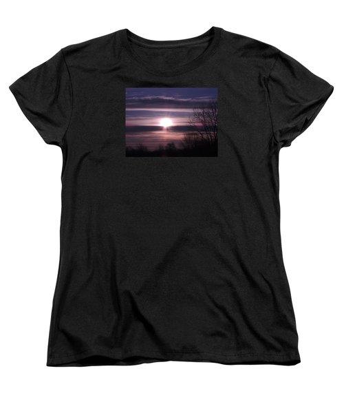 Purple Sunrise Women's T-Shirt (Standard Cut) by Teresa Schomig