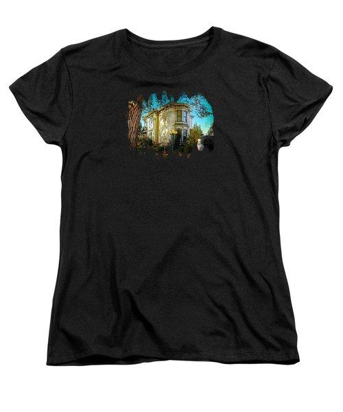 House With The Purple Swing Women's T-Shirt (Standard Cut) by Thom Zehrfeld