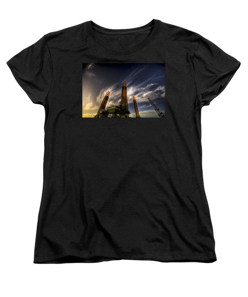 Women's T-Shirt (Standard Cut) featuring the photograph Pylons by Wayne Sherriff