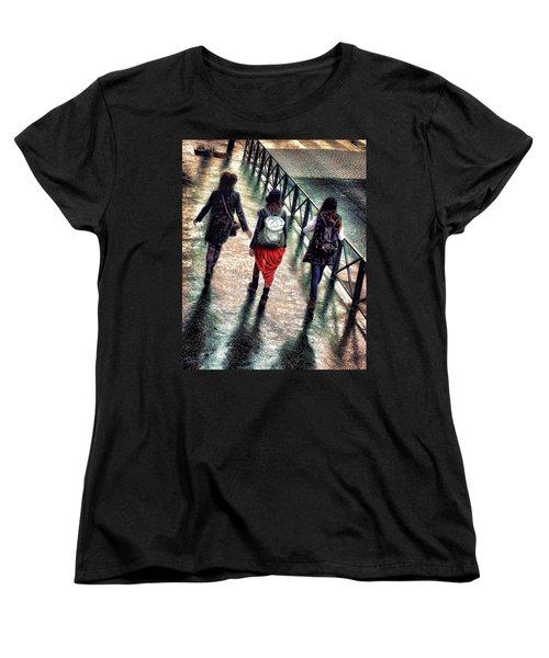 Women's T-Shirt (Standard Cut) featuring the photograph Quai Des Tuileries by Jim Hill