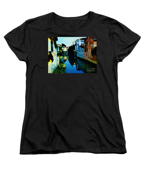 Women's T-Shirt (Standard Cut) featuring the photograph Quaint On The Canal by Roberta Byram