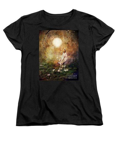 Quan Yin In A Lotus Pond Women's T-Shirt (Standard Cut) by Laura Iverson