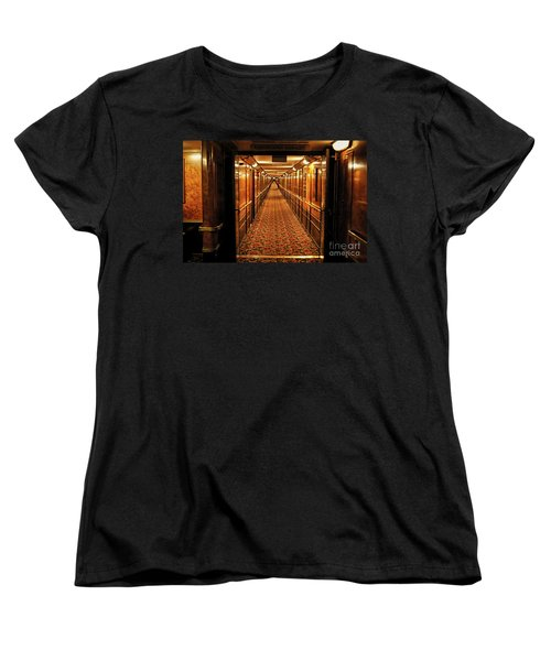 Women's T-Shirt (Standard Cut) featuring the photograph Queen Mary Hallway by Mariola Bitner