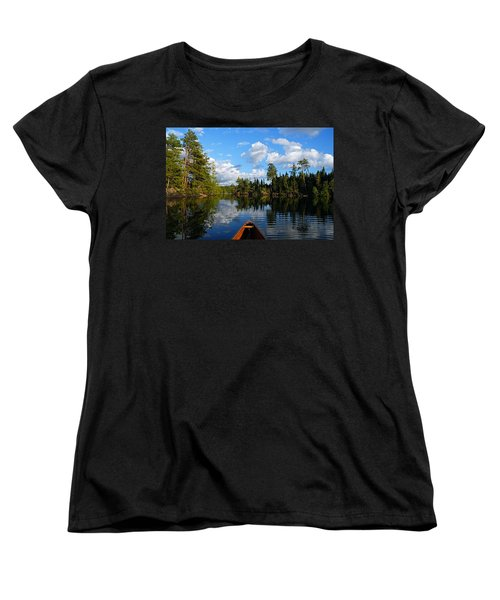 Quiet Paddle Women's T-Shirt (Standard Cut) by Larry Ricker