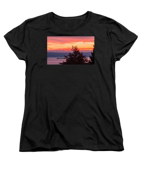 Radiance At Sunrise Women's T-Shirt (Standard Cut) by E Faithe Lester