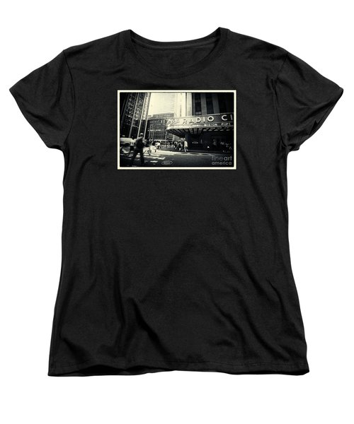 Radio City Music Hall Manhattan New York City Women's T-Shirt (Standard Cut) by Sabine Jacobs