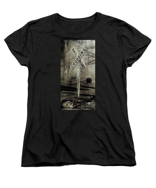 Railroad Crossing Women's T-Shirt (Standard Cut) by Michael Eingle