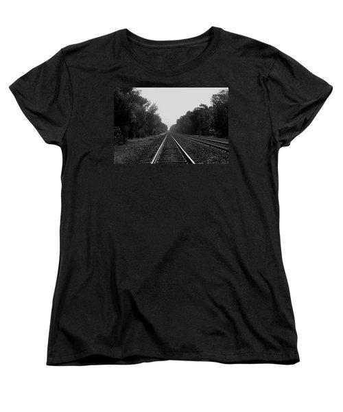 Railroad To Nowhere Women's T-Shirt (Standard Cut) by Trish Tritz