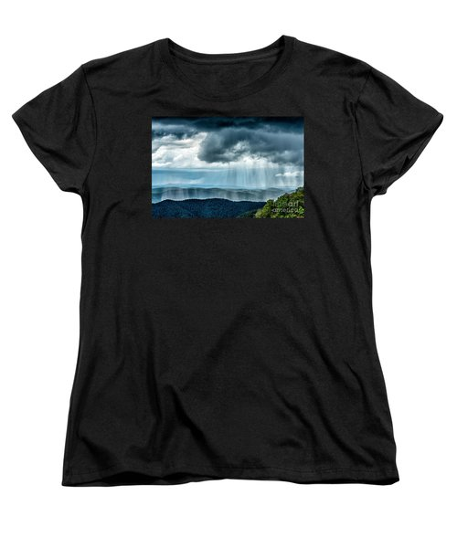 Women's T-Shirt (Standard Cut) featuring the photograph Rain Shower Staunton Parkersburg Turnpike by Thomas R Fletcher