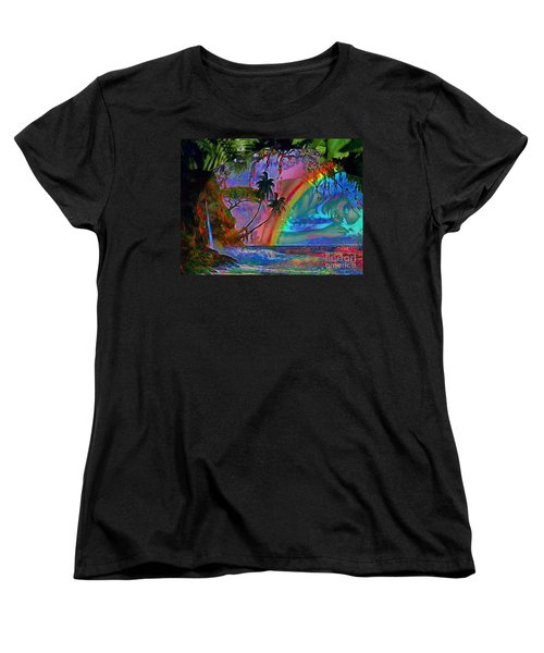 Rainboow Drenched In Layers Women's T-Shirt (Standard Cut) by Catherine Lott