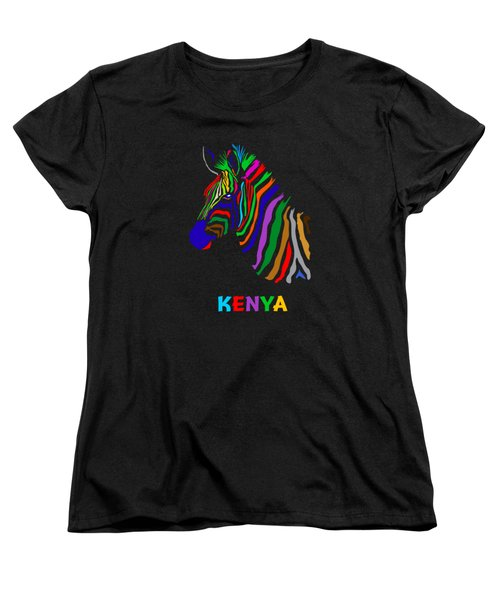 Women's T-Shirt (Standard Cut) featuring the digital art Rainbow by Anthony Mwangi