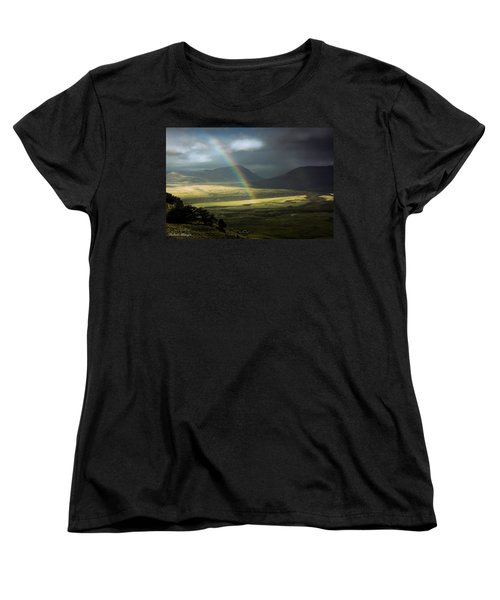 Women's T-Shirt (Standard Cut) featuring the photograph Rainbow In The Valley by Andrew Matwijec