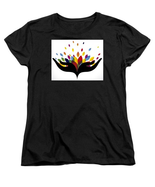 Rainbow Leaves Women's T-Shirt (Standard Cut)